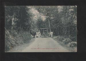 071088 CAR on Road to Castletown Jamaica Vintage PC