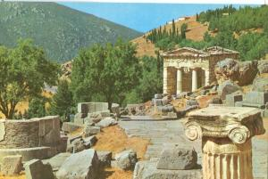 Greece, Delphi, The Stoa of the Athenians, unused Postcard