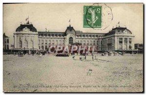 Old Postcard Trouville sur Mer The Municipal Casino Facade sea