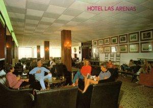 Hotel Las Arenas Mallorca Reception Lounge 1970s Postcard
