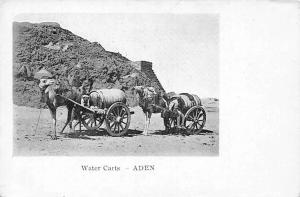 Yemen Aden Camel Water Barrels Carts