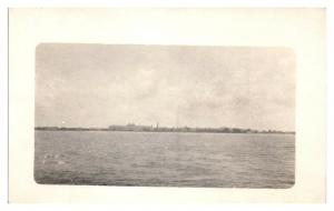 RPPC Palm Beach, FL from a Ship Real Photo Postcard *5N1