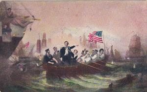 Battle Of Lake Erie Commodore Perry Sept 10, 1813 Painting by W H Powell