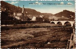 CPA ALES - Le Pont - L'Église de Rochebelle et le Gardon (299674)
