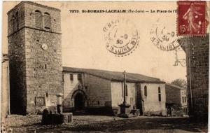 CPA  St-Romain-Lachalm (Hte-Loire) - La Place de l'Eglise (658279)