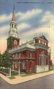 Christ Church - Philadelphia PA, Pennsylvania - pm 1943 - Linen