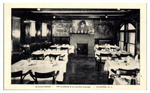 Dining Room, De Cleene's Clinton House, Clinton, NJ Postcard