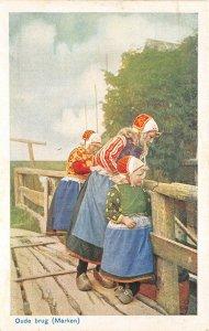 Lot 61 netherlands types folklore costume children old bridge marken