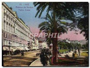 Postcard Old Nice Avenue de Verdun