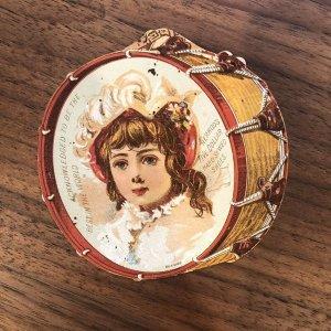VERY RARE - HERROD - DIE CUT - HAND SEWN SHOES - Kids Victorian Trade Card IND