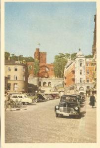 Sweden, HALSINGBORG, Terrassen och Karnan, 1950s unused Mini Postcard