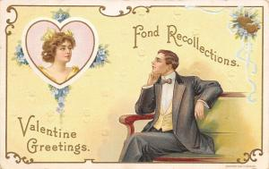 Valentine~Fond Recollections~Man Dreams~Lady in Heart~Gold Art Nouveau~H Wessler