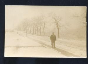 RPPC OSBORNE KANSAS WINTER SNOW ICE SCENE 1915 REAL PHOTO POSTCARD VINTAGE