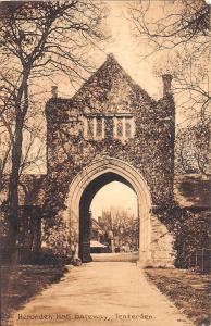TENTERDEN KENT UK HERONDEN HALL GATEWAY POSTCARD 1913