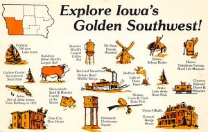 Maps Iowa's Golden Southwest USA Unused