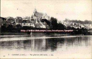 Candes - Vue Generale north coast - Old Postcard