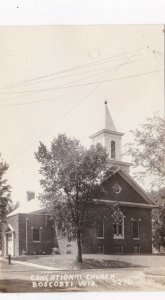 Wisconsin Boscobel Congregational Church Real Photo sk4215
