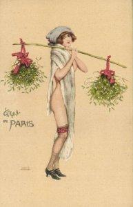 PC CPA KIRCHNER ARTIST SIGNED LE GUI DE PARIS ART NOUVEAU P4-14 TYPE1 (b2331)