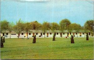 Mansfield Ohio Apple Grove Motel roadway hotel vtg postcard