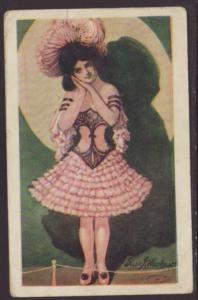 Woman,Waskow Postcard