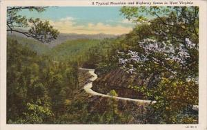 West Virginia Beckley A Typical Mountain And Highway Scene In West Virginia 1958