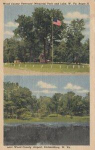PARKERSBURG, WV, 30-40s; Wood County, Veterans' Memorial Park, Lake & Airport