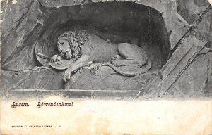 Luzern, Lowendenkmal New York Zoological Park, USA Unused