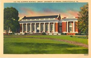 Alderman Library University of Virginia Charlottesville Line