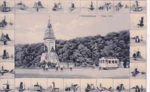 Netherlands Gravenhage Plein 1813 Monument and Trolley