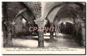 Vezelay Old Postcard Basilica of the Madeleine crypt