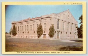 Madison Wisconsin~University of Wisconsin Stadium~Field House~1950s Kodachrome