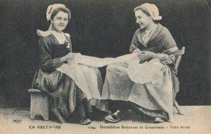 EN BRETAGNE , France, 1900-10s; Lace Workers , CONCARNEAU