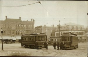 Westboro MA Beautiful Trolley Scene in the Square 1909 Used Postcard