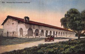 Mission San Fernando, California, early postcard, unused