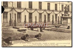 Old Postcard Paris Hotel Invalid Musee De l & # 39Armee Court & # 39Angouleme...