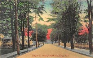 Cooper St. looking West Woodbury, New Jersey Postcard
