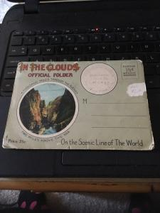 Vtg Picture Postcard Book: In the clouds Official Folder,CO Rockies 20 Views
