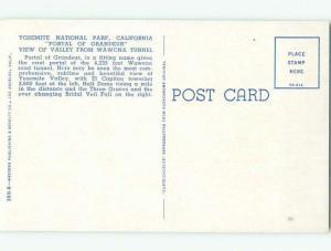 Pre-1980 YOSEMITE NATIONAL PARK Stockton & Modesto California CA W6370