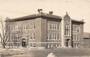 F24/ New Providence Iowa Real Photo RPPC Postcard 1914 School