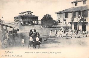 Djibouti Bureaux de la gare du chemin de fer de Djibouti, Horses Cafe de Paix