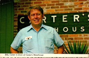 George Plains Billy Carter In Front Of Carter's Warhehouse