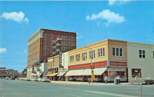 Abilene TX Woolworth's Zales Jewelry Alexander Building Old Cars Postcard