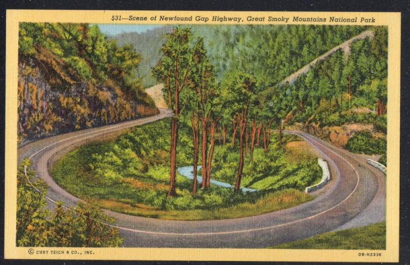 Newfound Gap Highway Great Smoky Mountain Nat Park  unused