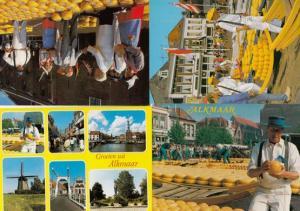 Alkmaar Holland Cheese Markets 4x Postcard s