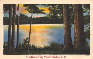 Greetings from Varnville, SC. USA R.P.O., Rail Post Offices PU 1939