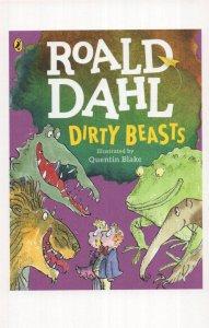 Roald Dahl Dirty Beasts 2016 Book Postcard