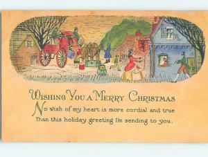 Pre-Linen christmas HAPPY PEOPLE GREET ARRIVING STAGECOACH HQ6508