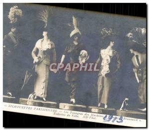 Old Postcard Paris Fashion Silhouettes Tamagras sewing machines of Brunswick ...