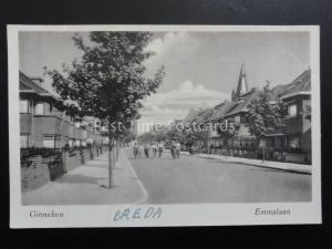 Netherlands GINNEKEN Breda KON EMMALAAN - Old RP Postcard