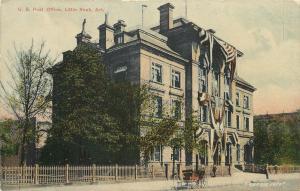 c1910 Wheelock Chromograph Postcard; US Post Office, Little Rock AR, Unposted